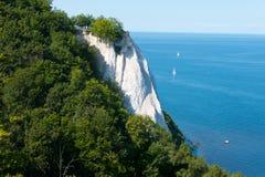 Chalk cliffs of ruegen stock photos