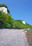 Chalk Cliffs,Ruegen Island,Germany. The chalk cliffs with the famous king`s chair of ruegen island(rugia)in the baltic sea,germany,mecklenburg western-pomerania Stock Photo