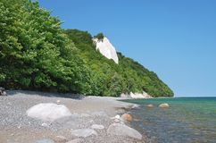 Chalk Cliffs,Ruegen Island,Germany. The chalk cliffs with the famous king`s chair on ruegen island(rugia)in the baltic sea,germany,mecklenburg western-pomerania Stock Image
