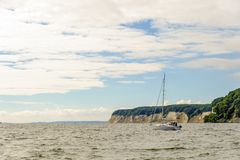 Chalk cliffs of Ruegen Royalty Free Stock Photo