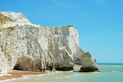Chalk cliffs seaford england Royalty Free Stock Photography