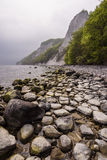 Chalk cliffs on shore of the Baltic Sea on the island Ruegen, Ge Royalty Free Stock Photography