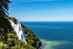 Chalk cliffs on shore of the Baltic Sea Royalty Free Stock Photo
