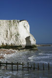Chalk cliffs sussex coast england Stock Image