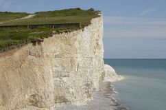 Chalk Cliffs in Sussex. England Stock Images