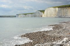 Chalk Cliffs in Sussex. England Stock Image