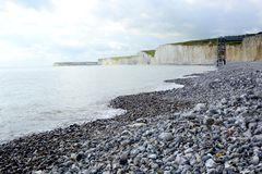 Chalk Cliffs in Sussex. England Royalty Free Stock Image