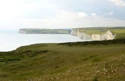 Chalk Cliffs in Sussex. England Royalty Free Stock Images