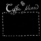 Chalk coffee menu template Stock Image