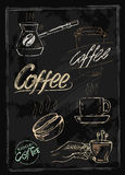 Chalk coffee Stock Photo