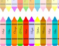 Chalk colors Stock Images