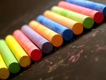 Chalk Coloured 4 stock photos