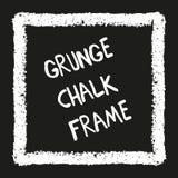 Chalk crayon square on black Stock Photo