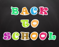 Chalk, crayon text on the school board. Back to School Stock Photo