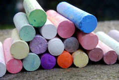 Chalk crayons Stock Images