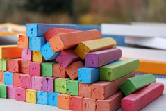 Chalk crayons Stock Photo