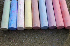 Chalk crayons Stock Photography
