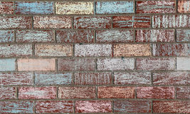 Chalk Decorated Brick Wall Royalty Free Stock Image