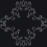 Chalk decorative frame. On blackboard background Royalty Free Stock Image