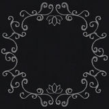 Chalk decorative frame Royalty Free Stock Image