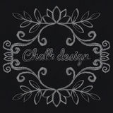 Chalk decorative frame. For cards, menu, invitations Stock Photography