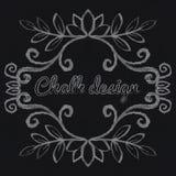 Chalk decorative frame Stock Photography