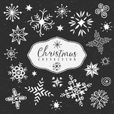 Chalk decorative snowflakes. Christmas collection. Stock Photography