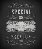 Chalk design Royalty Free Stock Photography