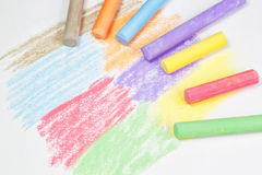 Chalk drawing. Chalk drawing on paper stock image