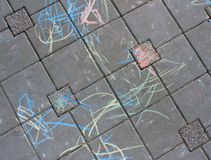 Chalk drawing Stock Photography