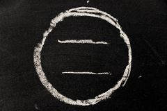 Chalk drawing as circle shape as blank stamp or seal Stock Image