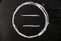 Chalk drawing as circle shape as blank stamp or seal Royalty Free Stock Image