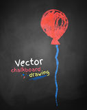 Chalk drawing of balloon Royalty Free Stock Photography