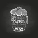 Chalk drawing. beer glass Royalty Free Stock Photos