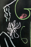 Chalk drawing on blackboard background Stock Photography