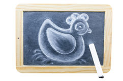 Chalk Drawing. Blackboard in wooden frame with a chalk drawing royalty free stock photo