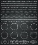 Chalk Drawing Borders and Frames, Dividers, Swirls Royalty Free Stock Image