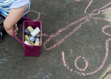Chalk drawing Royalty Free Stock Photos