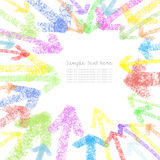 Chalk drawing colorful arrows Royalty Free Stock Photos
