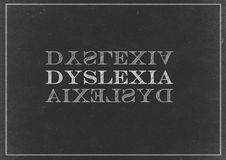 Chalk drawing - Dyslexia. On Chalk royalty free stock images