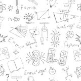 Chalk drawing effect. Physics formulas, lab Royalty Free Stock Images