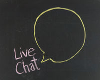 Chalk drawing - Live chat Stock Image