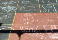 Chalk drawing Stock Photos