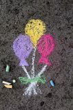 Chalk drawing: party ballons Royalty Free Stock Photo