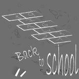 A chalk drawing on the pavement/hopscotch stock illustration