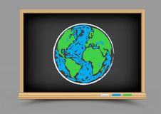 Blackboard Earth lesson Royalty Free Stock Photo