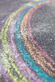 Chalk drawing of rainbow Royalty Free Stock Images
