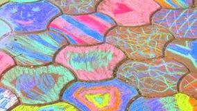 Chalk drawing Stock Image
