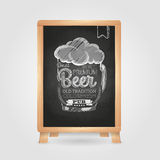 Chalk drawing. Typography beer glass Stock Photos