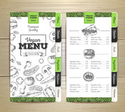Chalk drawing vegetarian food menu design. Royalty Free Stock Photography